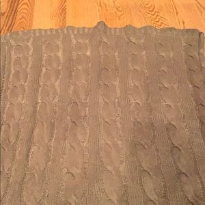 Calvin Klein cable knit throw blanket.  NWOT.